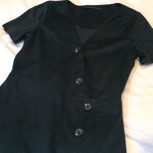 Forest Green suede Zara dress